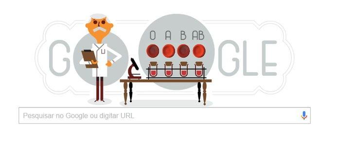 A homenagem do Google ao cientista.