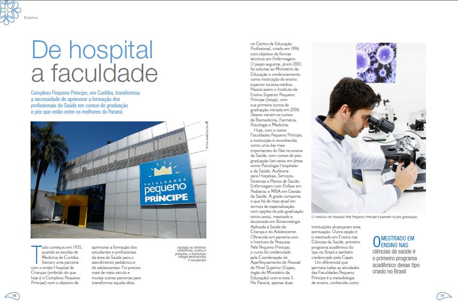 Parte da reportagem publicada na revista Lide: reconhecimento nacional para a FPP.