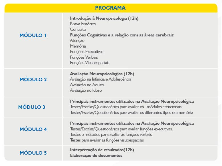 programa neuropsicologia