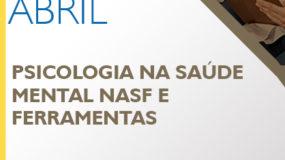 312a133b12 Curso de Extensão  Psicologia na Saúde Mental NASF e Ferramentas